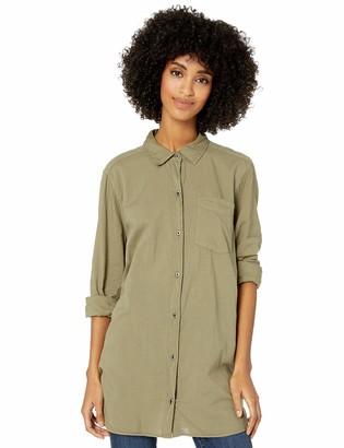 Goodthreads Lightweight Poplin Long-sleeve Button-front Shirt Blue/Orange/White Plaid