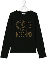 Moschino Kids hearts logo top
