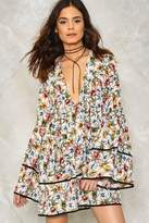 Nasty Gal nastygal Go With the Low Floral Dress