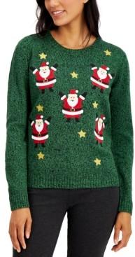 Karen Scott Mini Santa Sweater, Created for Macy's