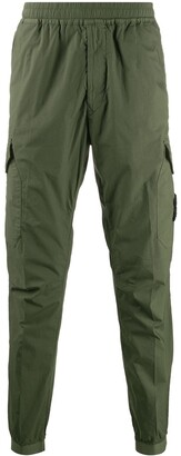 Stone Island pull-on compass badge cargo trousers
