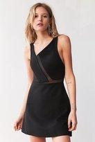 Silence & Noise Silence + Noise Misha Asymmetrical Ponte + Mesh Dress