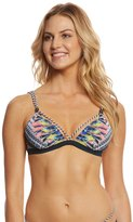 Red Carter Feather Warrior French Triangle Bikini Top 8156673