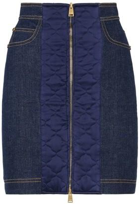 Fendi Button Front Denim Skirt