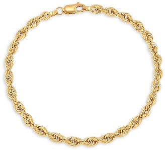 Saks Fifth Avenue 14K Yellow Gold Glitter Rope Chain Necklace