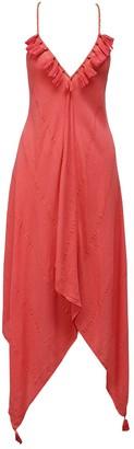 Nooki Design Larna Hanky Hem Dress - Coral