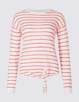 Classic Striped Round Neck Long Sleeve Jumper