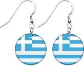 Body Candy Greece Flag Earrings