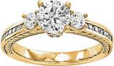 MODERN BRIDE 3/4 CT. T.W. Diamond 14K Yellow Gold 3-Stone Engagement Ring