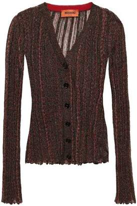 Missoni Metallic Ribbed Crochet-knit Cardigan