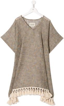 Little Bambah Tassel-Trimmed Linen Dress