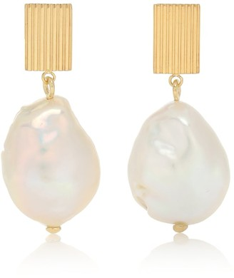 ALIITA Barroco 9kt gold and pearl earrings