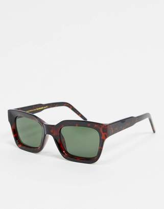 A.Kjaerbede square sunglasses in tort with concave lens