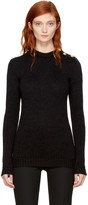 Balmain Black Three-Button Crewneck Sweater