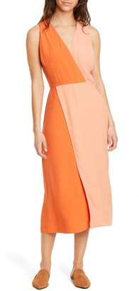 Equipment Galane Colorblock Crepe Dress