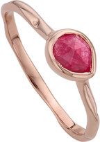 Monica Vinader Siren 18ct rose gold vermeil and pink quartz small stacking ring