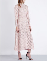 Elie Saab Floral-lace midi dress