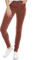 J Brand Maria Warm Sable High-Rise Skinny Leg