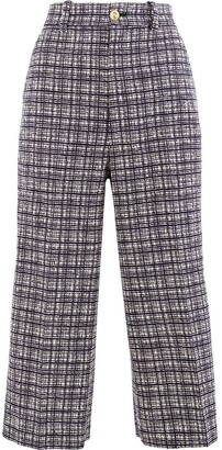 Gucci Check Patterned Cropped Trousers