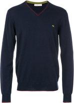 Etro V neck sweatshirt - men - Wool - M