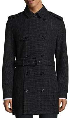 Michael Kors Double Breasted Button Trench Coat
