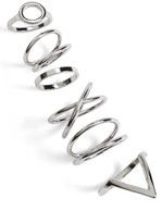 Topshop Women's 6-Pack Geo Rings