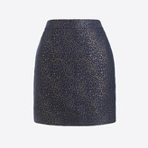 J.Crew Factory Metallic leopard jacquard mini skirt