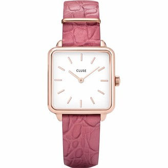 Cluse Womens Analogue Quartz Watch with Leather Strap CL60020