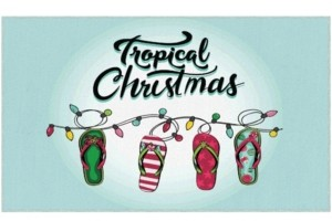 """Mohawk Tropical Christmas Accent Rug, 24"""" x 40"""" Bedding"""