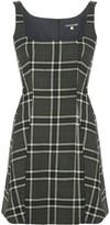 ALEXACHUNG Checked Mini Dress