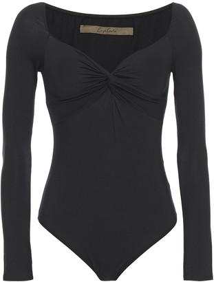 Enza Costa Twist-front Stretch-jersey Bodysuit