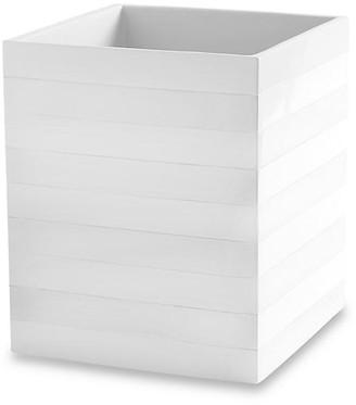 Kassatex Cabana Wastebasket - White