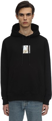 Burberry Oversize Printed Cotton Jersey Hoodie