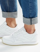 Reebok Classic White Sneakers With Crepe Sole