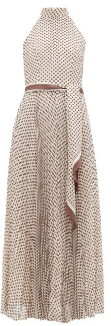 Zimmermann Sunray Polka-dot Crepe Midi Dress - Womens - Cream Print
