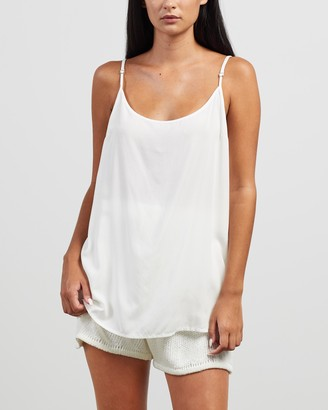 Morrison - Women's White Sleeveless Tops - Oden Cami at The Iconic