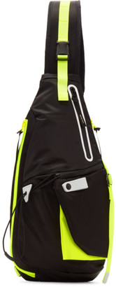 Master-piece Co Master Piece Co Black Game-Neon Sling Backpack