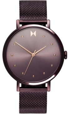 MVMT Women's Dot Vibe Purple Steel Mesh Bracelet Watch 36mm
