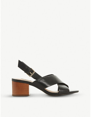 Dune Indey cross-strap leather sandals
