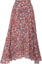 Saloni Ida Printed Silk Crepe De Chine Skirt