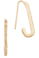 Rebecca Minkoff Mini Pace Safety Pin Earrings