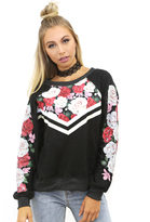 Wildfox Couture Rose Race Kim's Sweater in Clean Black
