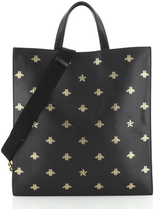 Gucci Convertible Soft Open Tote Printed Leather Tall