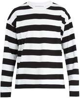 Ami Crew-neck striped-jersey T-shirt