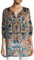 Tolani Joan Velvet Burnout Tunic, Plus Size