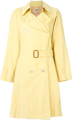 Hermes Pre-Owned Belted Trench Coat