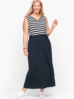 Talbots Sunset Stripe Jersey Maxi Dress