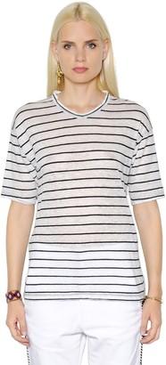 Etoile Isabel Marant Striped Cotton & Linen Blend T-shirt