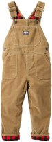"Osh Kosh OshKosh Little Boys' Toddler ""Corduroy Harvest"" Flannel-Lined Overalls"