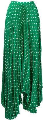 Plan C Polka Dot Asymmetric Skirt